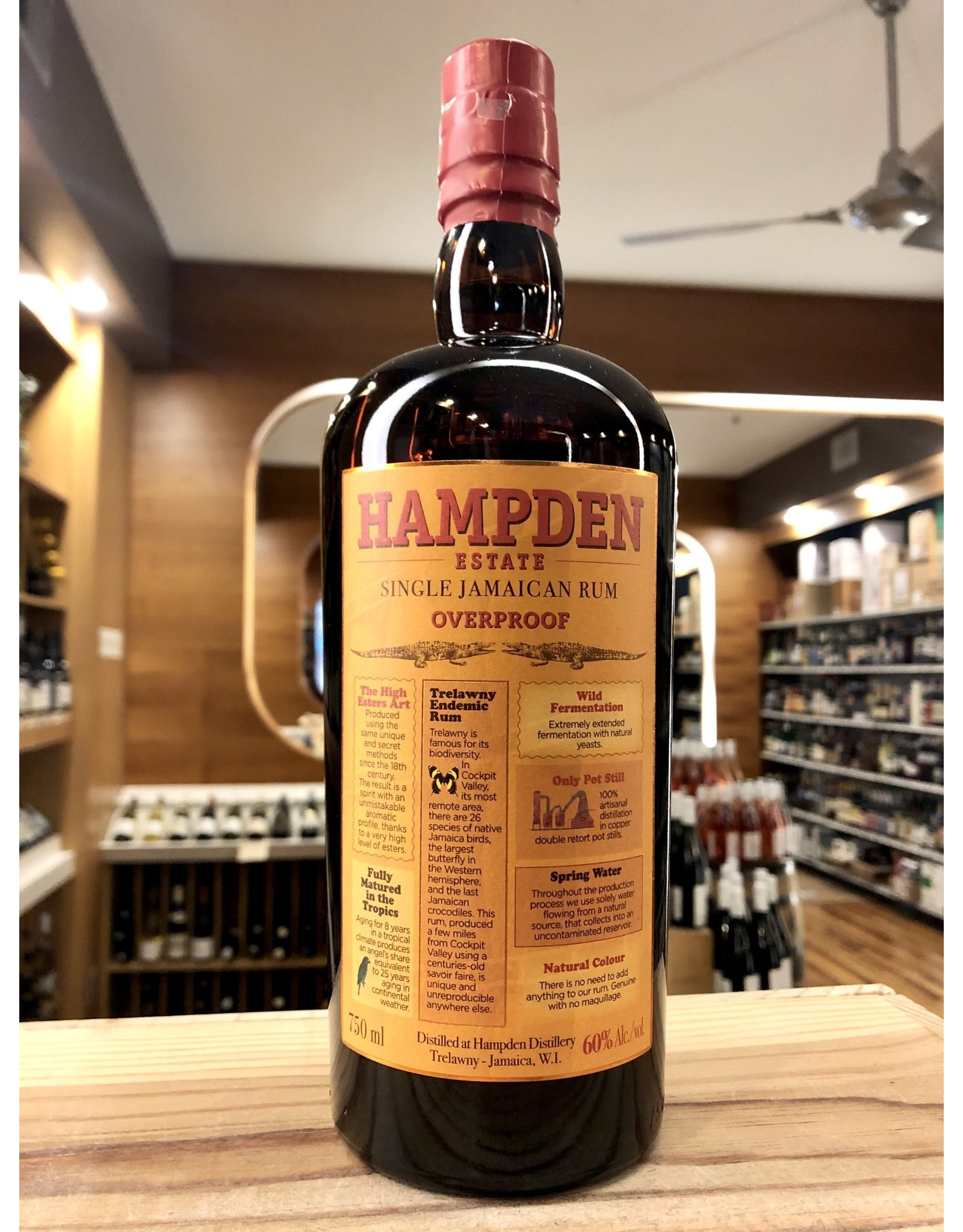 Hampden Estate Overproof Jamaican Rum - 750 ML