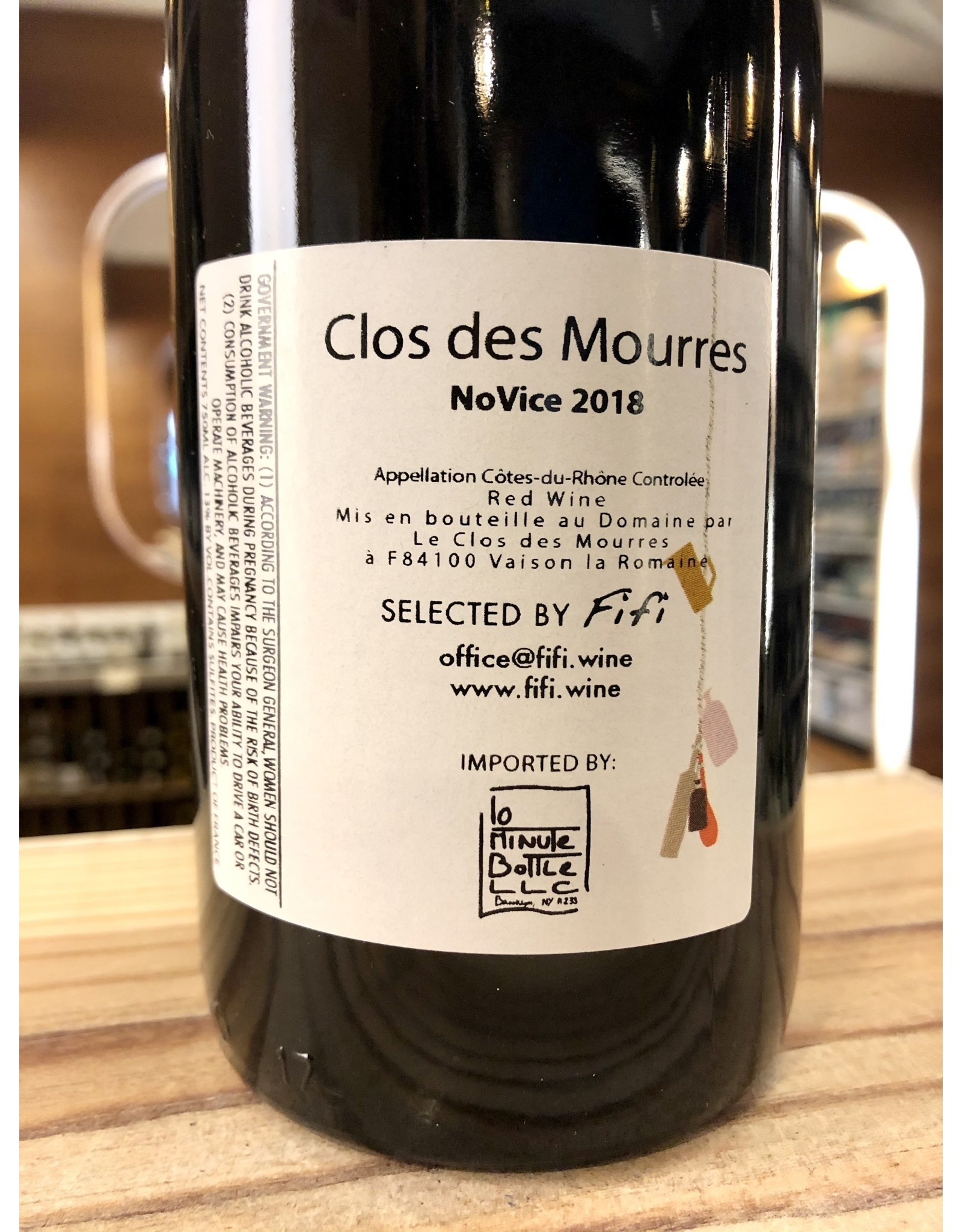 Clos des Mourres NoVice Rouge - 750 ML