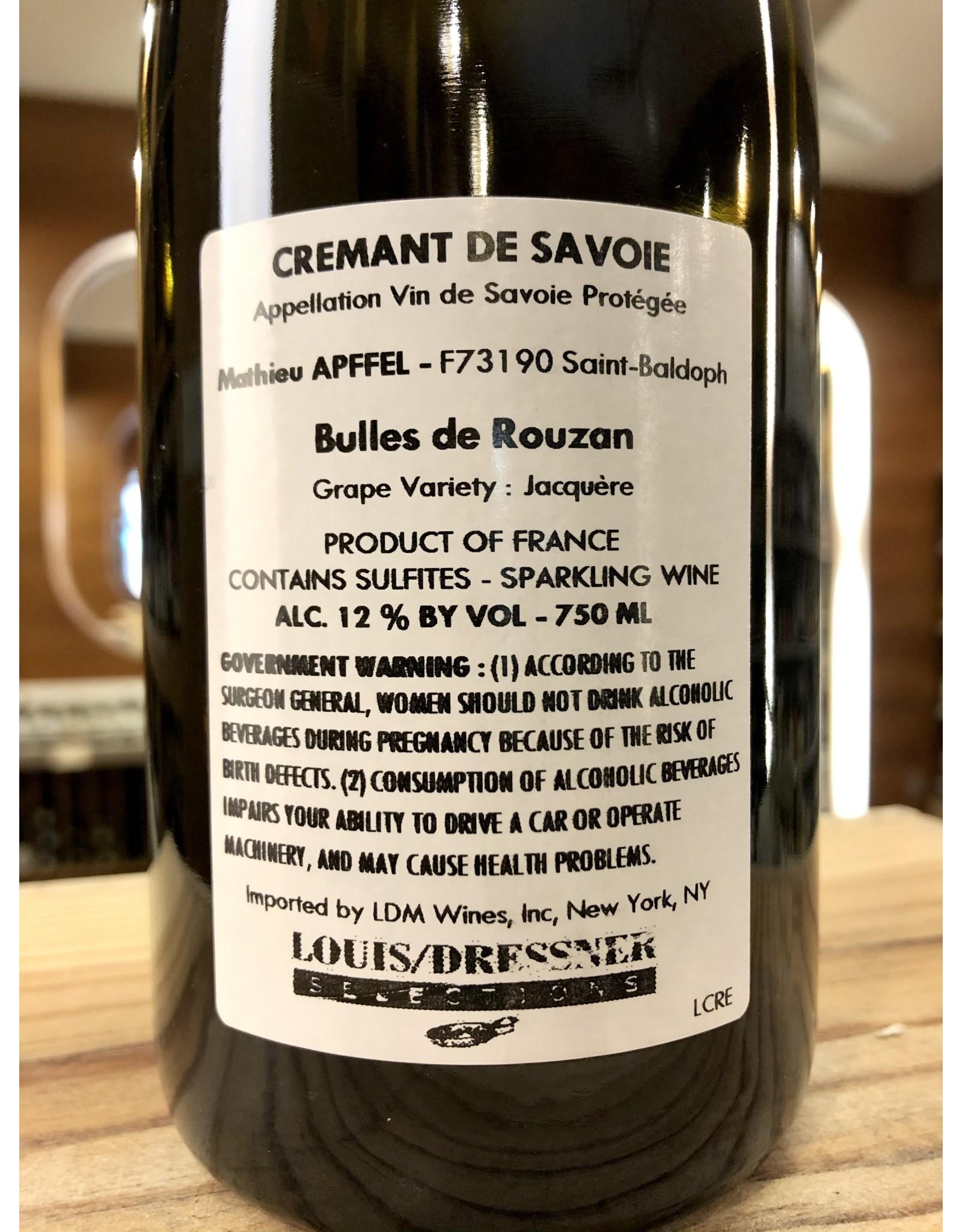 Mathieu Apffel Cremant de Savoie Bulles de Rouzan - 750 ML