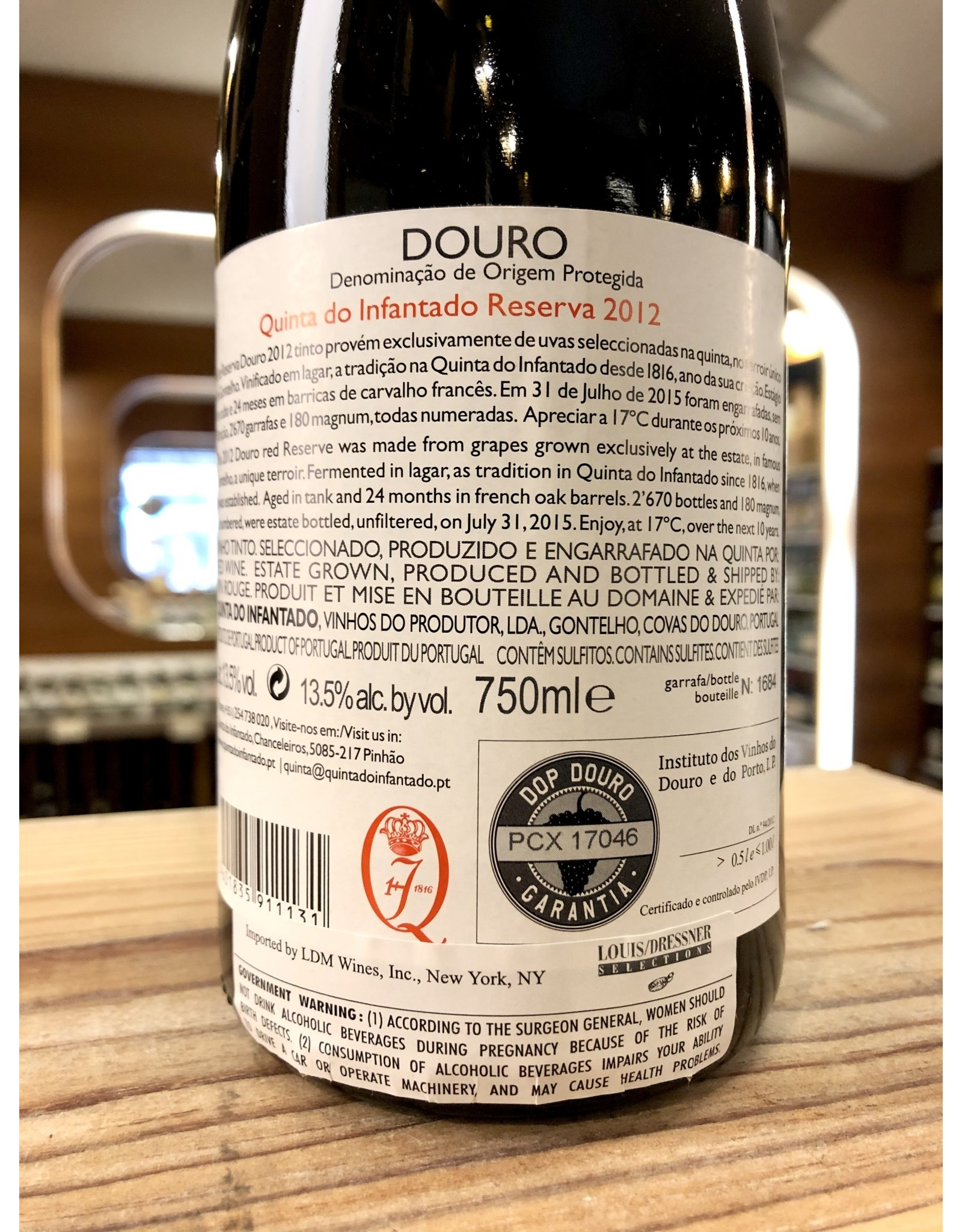 Quinta do Infantado Douro Reserva 2012 - 750 ML