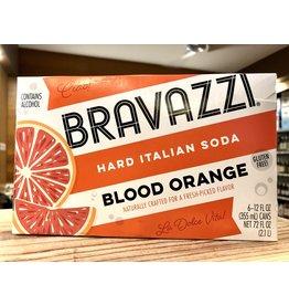 Bravazzi Blood Orange Hard Italian Soda - 6x12 oz.