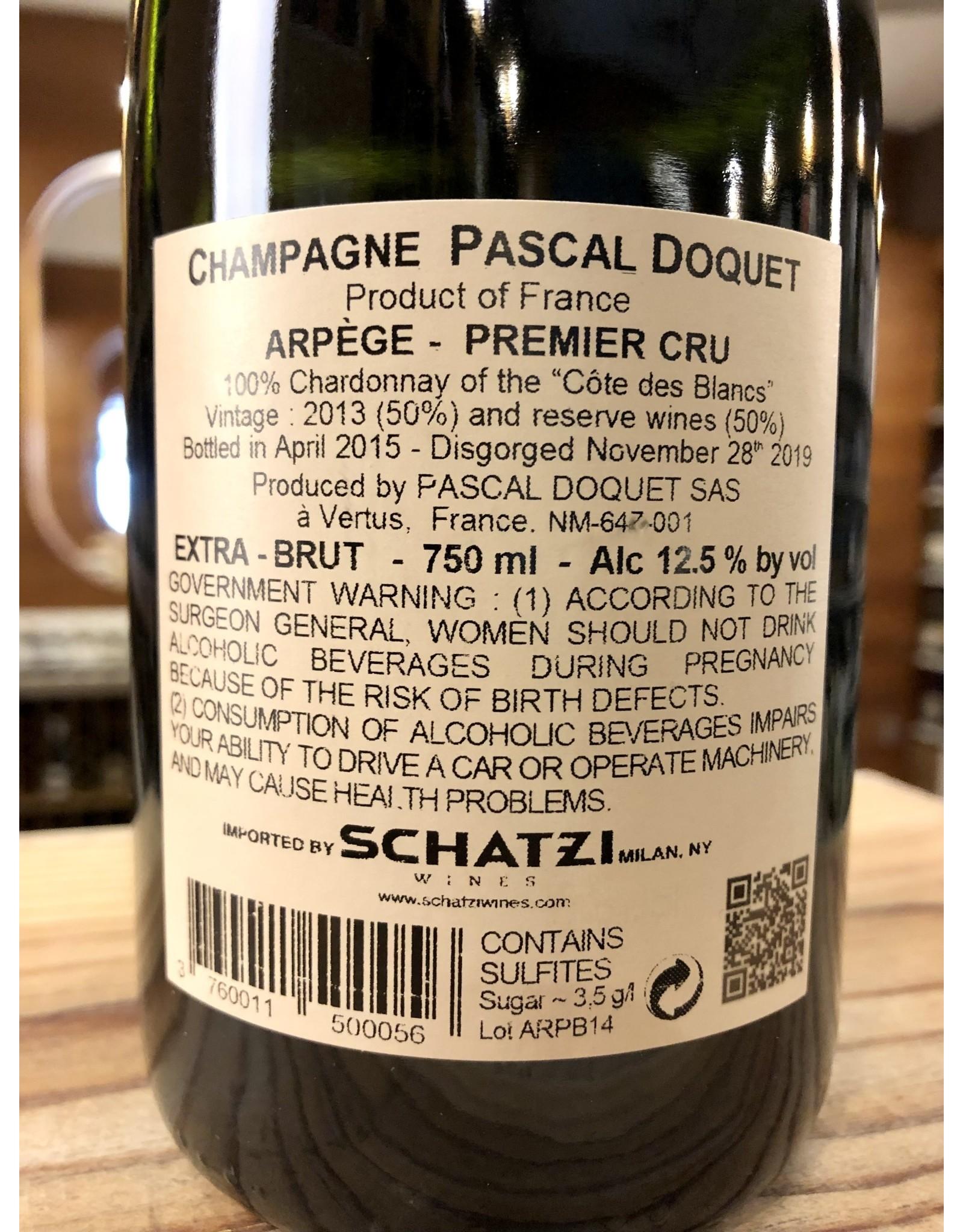 Pascal Doquet Arpege Blanc de Blancs Extra Brut Champagne - 750 ML