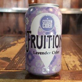 Citizen Cider Fruition: Lavender Cider, 6% ABV, 12oz Can