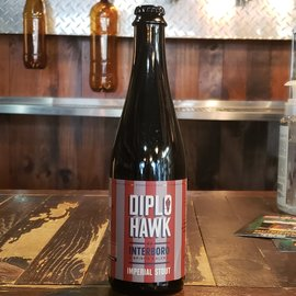 Interboro Diplo Hawk Stout, 12% ABV, 500ml Bottle