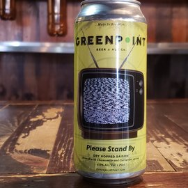 Greenpoint  Beer & Ale Please Stand By Saison, 6% ABV, 16oz Can