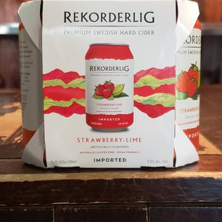 Abro Bryggeri Rekorderlig Strawberry Lime Cider, 4.5% ABV, 11.2oz Can