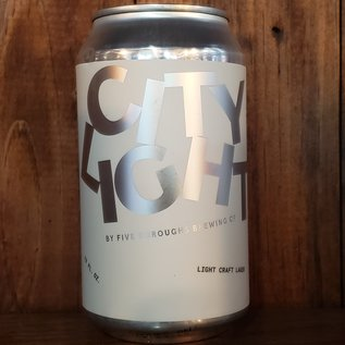 Five Boroughs Brewing Co City Light Lager, 4.2% ABV, 12oz Can