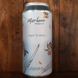 Marlowe Artisanal Ales Marlow-Eager To Share Pale Ale, 5.4% ABV, 16oz Can