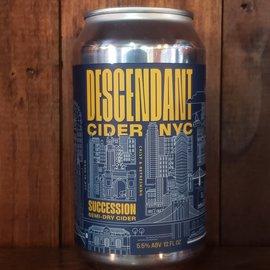 Descendant Cider Company Succession Cider, 5.5% ABV, 12oz Can