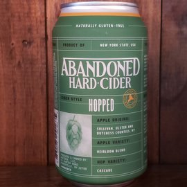 Abandoned Hard Cider Abandoned Hard Cider Dry Hopped, 6% ABV, 12oz Can