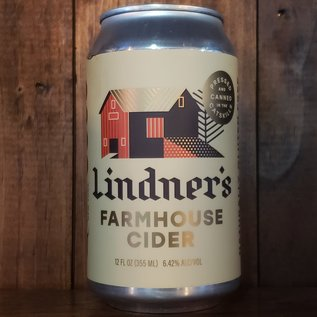 Lindner's Cider Farmhouse Cider, 6.42% ABV, 12oz Can