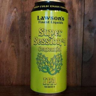Lawson's Finest Liquids Super Session #4 (Centennial) IPA, 4.8% ABV, 16oz Can