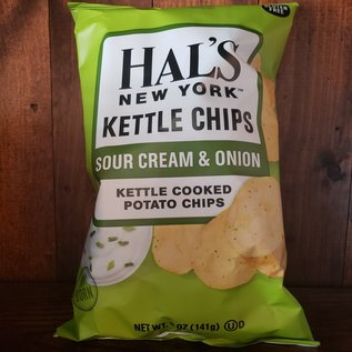 Hal's New York Sour Cream & Onion Kettle Potato Chips 5 oz