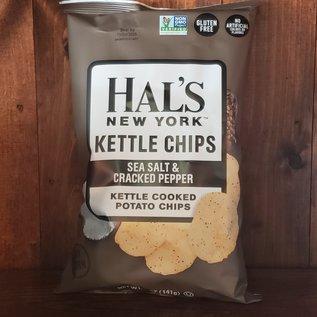 Hal's New York Sea Salt & Cracked Peper Kettle Potato Chips 5 oz