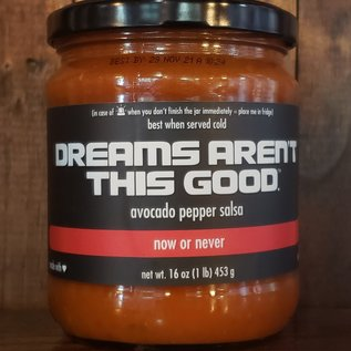 """Dreams Aren't This Good Aren't This Good Avocado Pepper Salsa """"Now or Never"""" 16 oz"""