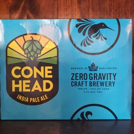 Zero Gravity Conehead IPA 12-pack 5.7% ABV 12 oz Cans