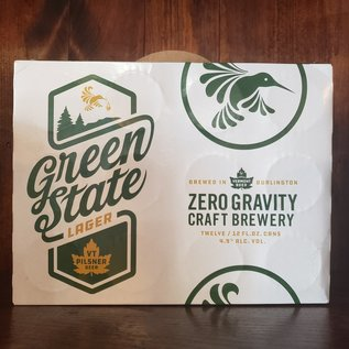Zero Gravity Green State Lager, 4.9% ABV, 12oz/12 Pack Cans