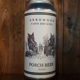 Arrowood Farm Porch Beer Wild Ale 4.8% ABV 16oz Can