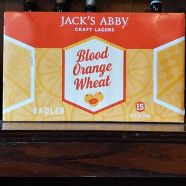Jack's Abby Craft Lagers Blood Orange Wheat, 4% ABV, 15pk 12oz Cans