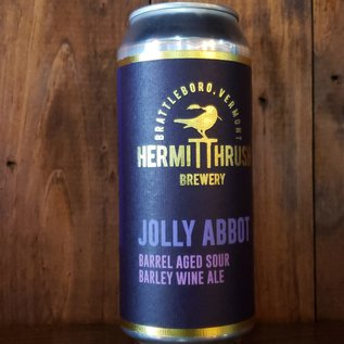 Hermit Thrush Brewery Jolly Abbot Sour Barley Wine, 13% ABV, 16oz Can