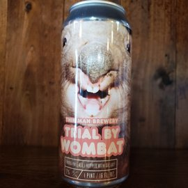 Thin Man Trial By Wombat NE IPA, 7% ABV, 16oz Can
