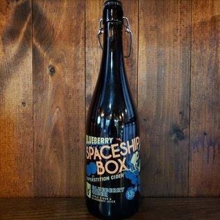 Superstition Meadery Blueberry Spaceship Box Cider, 5.5% ABV, 25oz Bottle