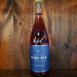 Nine Pin Blueberry Cider, 6% ABV, 25oz Bottle