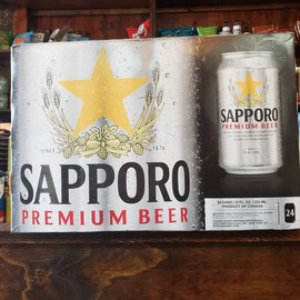 Sapporo Breweries Sapporo Premium Beer Lager, 4.9% ABV, 24 Pack Cans