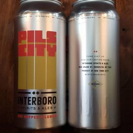Interboro Pils City Dry Hopped Pilsner, 5% ABV, 16oz Can