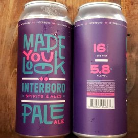 Interboro Made You Look Pale Ale, 5.8% ABV, 16oz Can