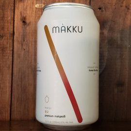 Makku Makku Mango Korean Rice Beer, 6% ABV, 12oz Can