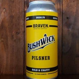 Braven Brewing Company Bushwick Pilsner, 5.5% ABV, 16oz Can