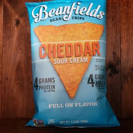 Beanfields Cheddar Sour Cream Bean Chips, 5.5oz Bag