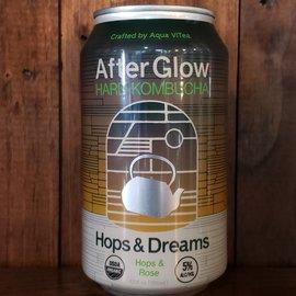 Aqua ViTea AfterGlow Hard Kombucha Hops & Dreams, 5% ABV, 12oz Can