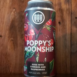 Schilling Beer Co. Poppy's Moonship (Cherries And Raspberries) Sour Ale, 4.8% ABV, 16oz Can