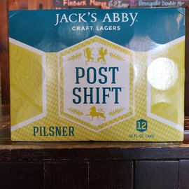 Jack's Abby Craft Lagers Post Shift Pilsner, 4.7% ABV, 12 Pack