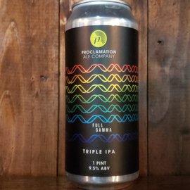Proclamation Ale Company Full Gamma Triple IPA, 9.5% ABV, 16oz Can