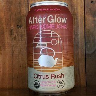 Aqua ViTea AfterGlow Hard Kombucha Citrus Rush, 5% ABV, 12oz Can