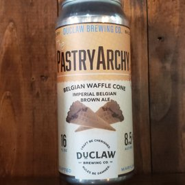 DuClaw Brewing Company The PastryArchy Belgian Waffle Cone Brown Ale, 8.5% ABV, 16oz Can