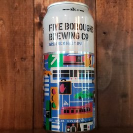 Five Boroughs Brewing Co Gridlock Hazy IPA, 6.5% ABV, 16oz Can