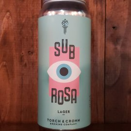 Torch & Crown Brewing Company Torch & Crown-Sub Rosa Lager, 4.7% ABV, 16oz Can