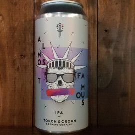 Torch & Crown Brewing Company Almost Famous NE IPA, 6.6% ABV, 16oz Can