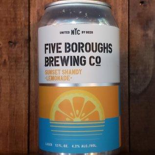 Five Boroughs Sunset Shandy Lemonade Lager, 4.2% ABV, 12oz Can