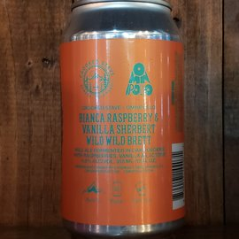 Crooked Stave Crooked Stave-Bianca Raspberry & Vanilla Sherbert Wild Wild Brett Sour Ale, 4.6% ABV, 12oz Can