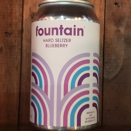 Fountain Beverage Co. Fountain Beverage-Blueberry Hard Seltzer, 5% ABV, 12oz Can
