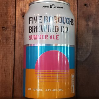 Five Boroughs Summer Ale, 5% ABV, 12oz Can