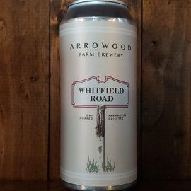 Arrowood Farm Whitfield Road Farmhouse Grisette, 4.6% ABV, 16oz Can