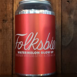 Folksbier Folksbier-Watermelon Glow Up Sour Ale, 4.75% ABV, 12oz Can