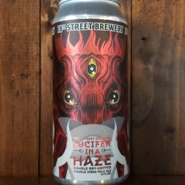 18th Street Brewery 18th Street Brewery-Lucifer In A Haze DDH DIPA, 8.4% ABV, 16oz Can
