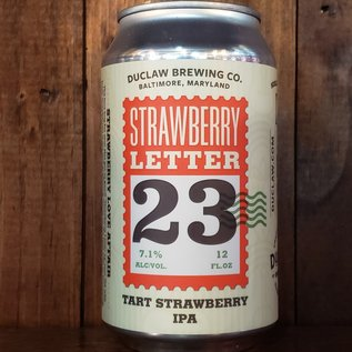 DuClaw Brewing Company DuClaw Strawberry Letter 23 Tart IPA, 7.1% ABV, 12oz Can